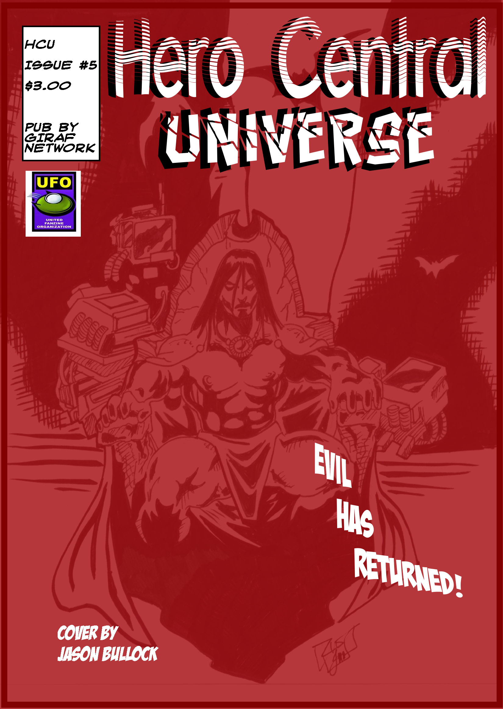 The forces of evil have brought the return of their dark champion. Dracula is here. Good continues to secret out an answer. Available at $3.00 for hard copy, $0.99 for digital copy. Co-published by UFO.