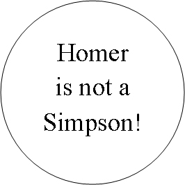 Homer is not a Simpson!
