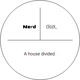 Nerd/Geek / A house divided.